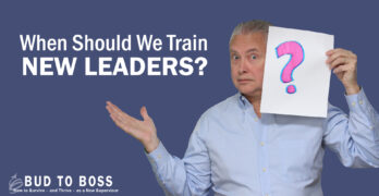 Video splash image: when should we train new leaders?